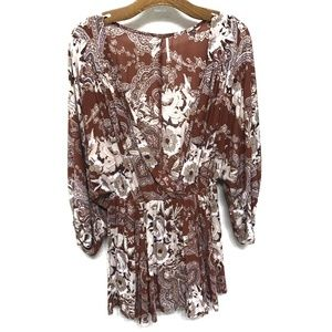 Free People | Floral & Paisley Printed Tunic Dress